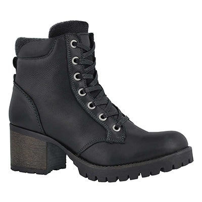 Lds Tori black lace up ankle boot