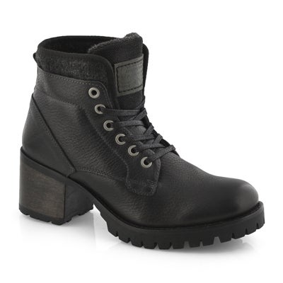 Lds Tori 2 black lace up ankle boot