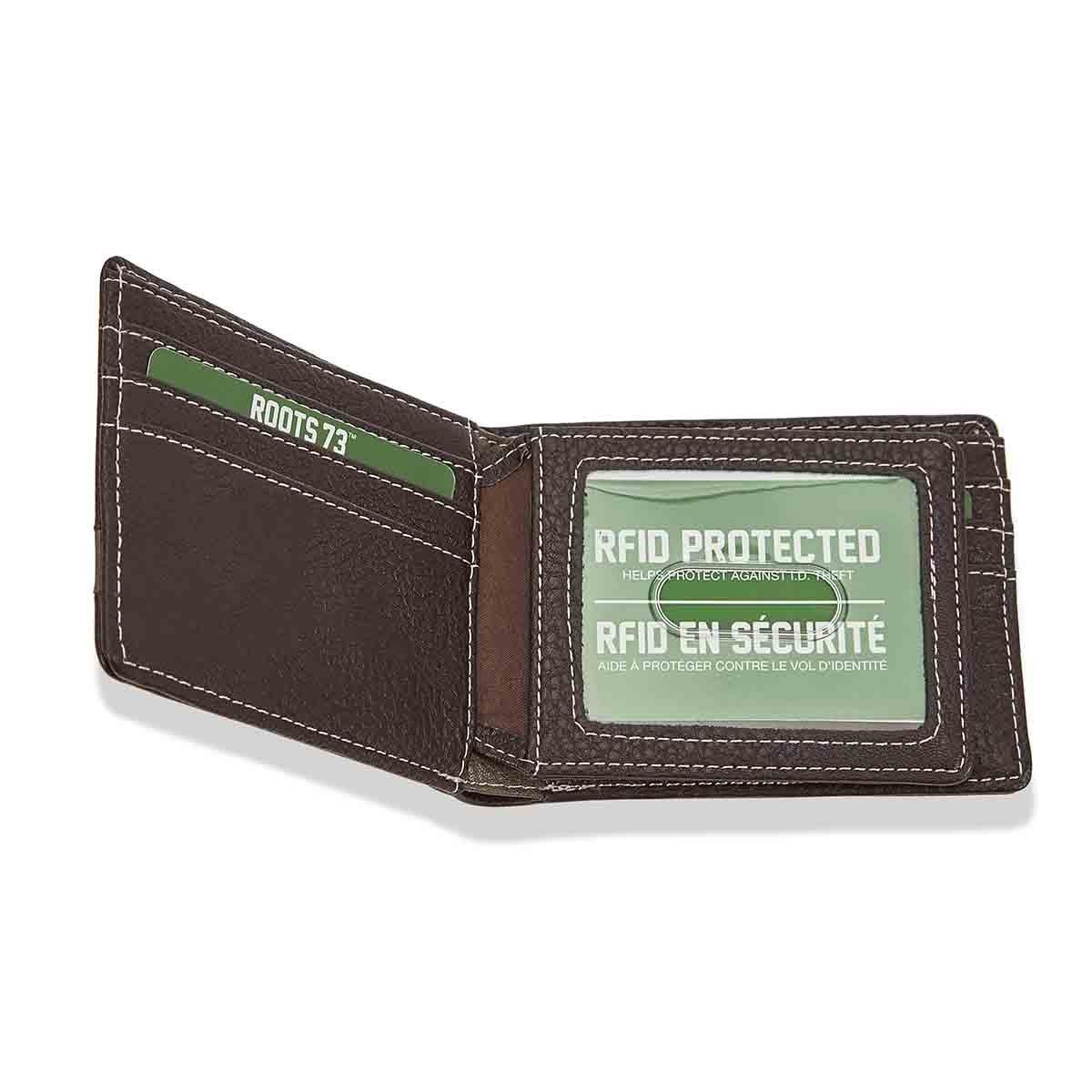 Mns Trail brn cmbo slimfold wallet