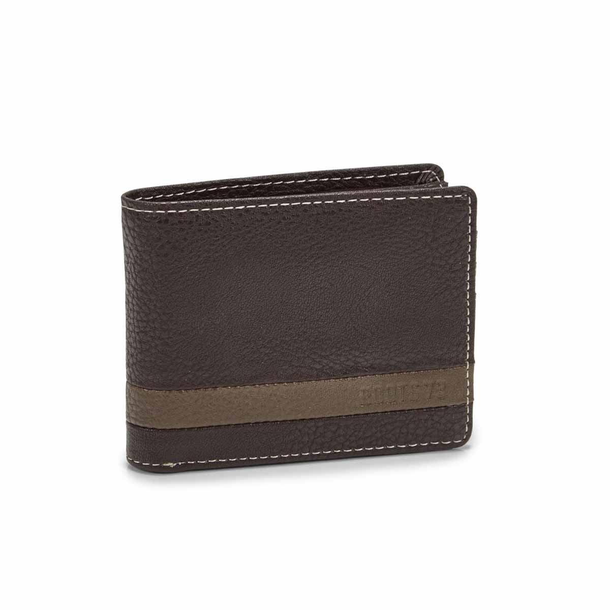 Men's TRAIL brown slimfold wallet