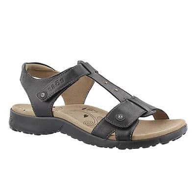 Lds Tranquil black t-strap sandal