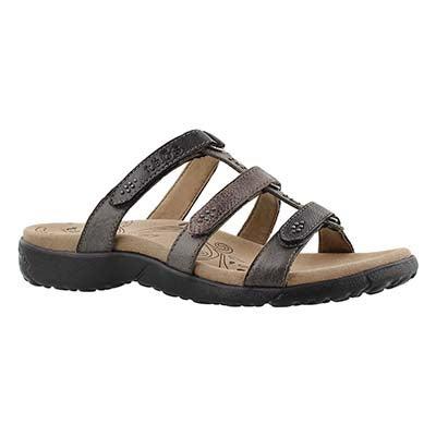 Taos Women's TRIBUTE grey/multi slip on sandals