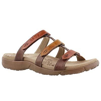 Taos Women's TRIBUTE orange/multi slip on sandals