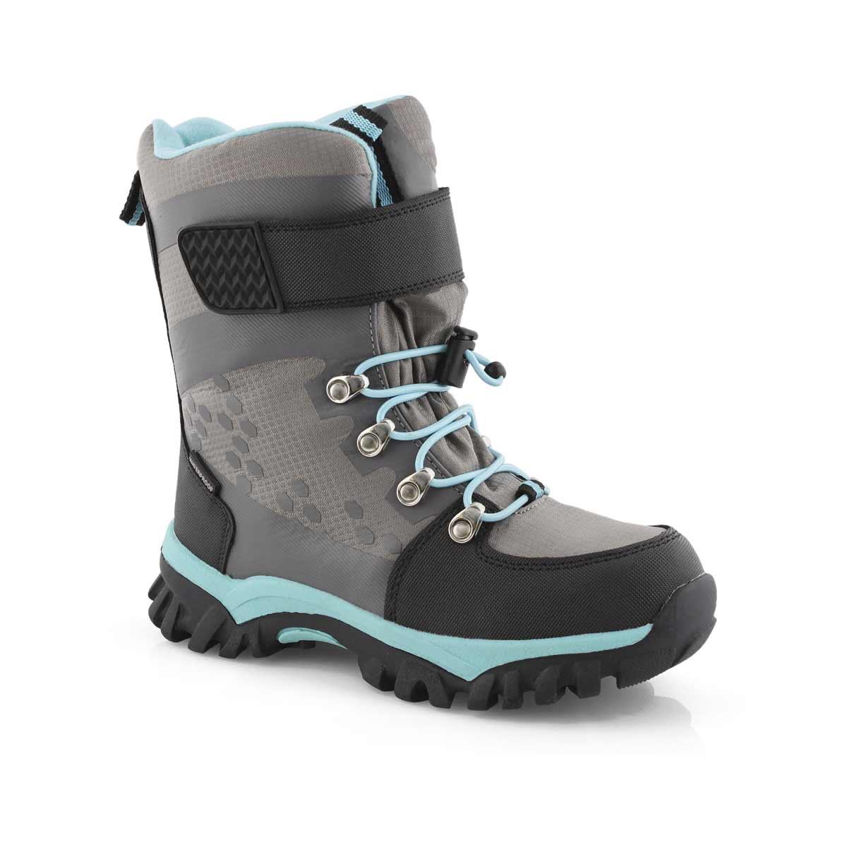 Grls Trinity grey wtpf winter boot