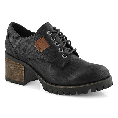 Lds Tristyn black casual oxford heel