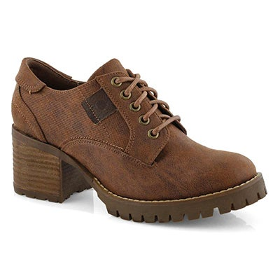 Lds Tristyn tan casual oxford heel