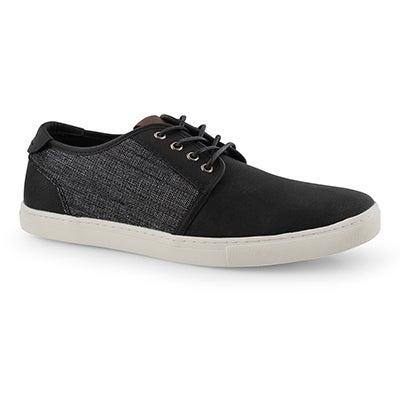 Mns Tronic black laceup casual sneaker
