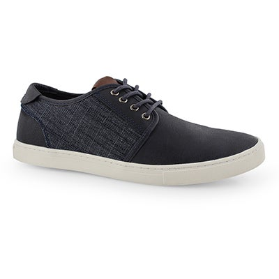 Mns Tronic navy laceup casual sneaker