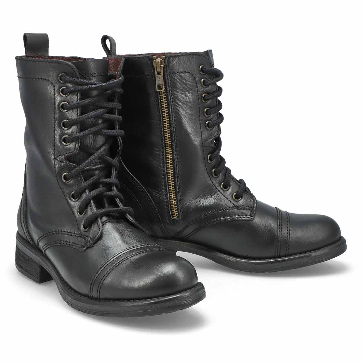 Women's TROOPA 4.0 black lace up combat boots