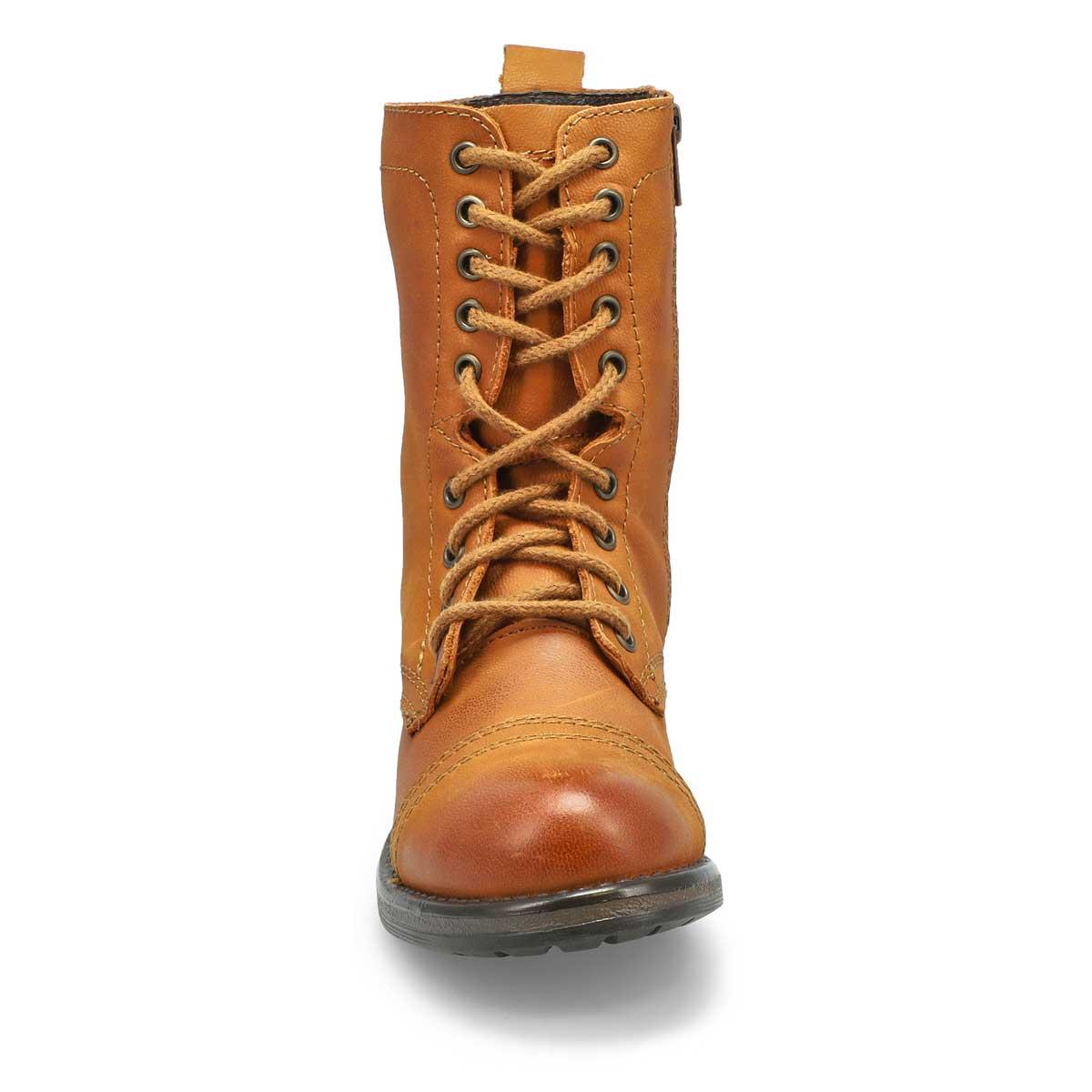 Lds Troopa4.0 cognac lace up combat boot