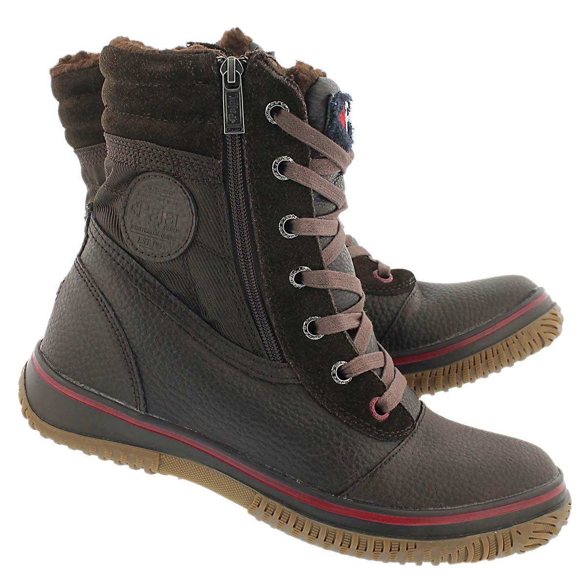 Mns Trooper dk brn wtrpf mid winter boot
