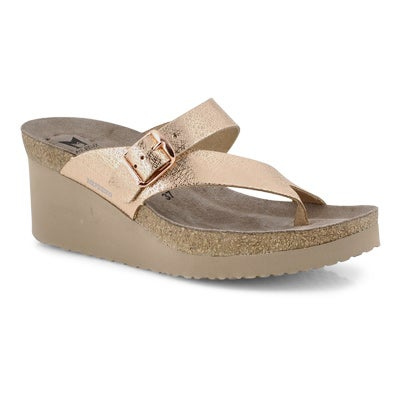 Lds Tyfanie copper footbed wedge sandal