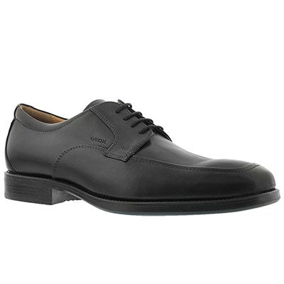 Geox Men's FEDERICO black lace up dress shoes