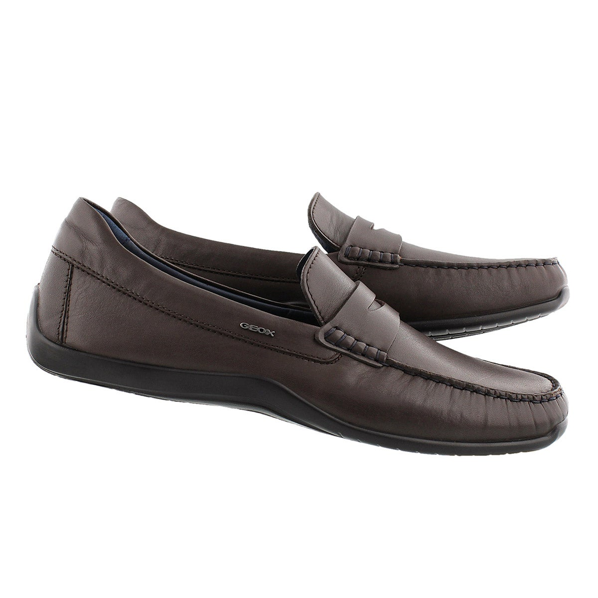 Mns Xense Mox coffee leather loafer
