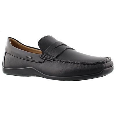 Geox Men's XENSE MOX black leather loafers