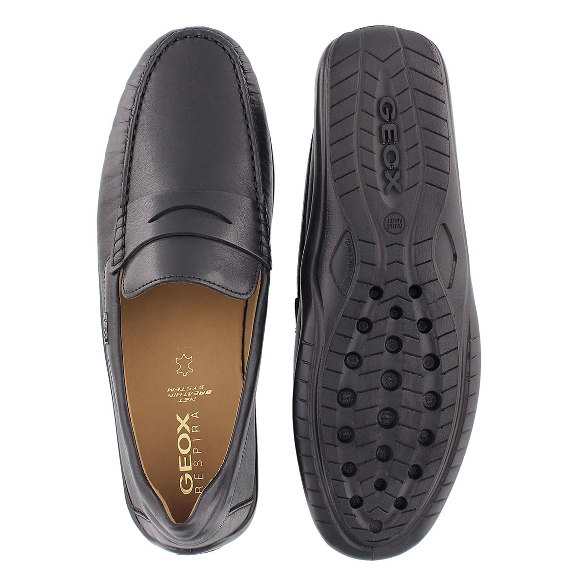 Mns Xense Mox black leather loafer