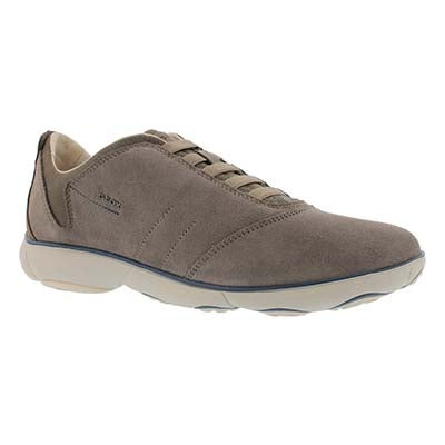 Geox Men's NEBULA dove grey lace up running shoes