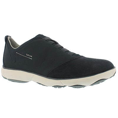 Geox Men's NEBULA navy lace up running shoes