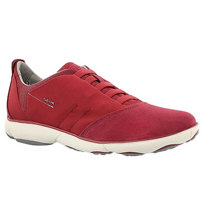 Geox Men's NEBULA red lace up running shoes