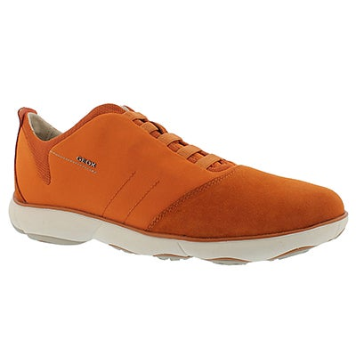 Geox Men's NEBULA orange lace up running shoes