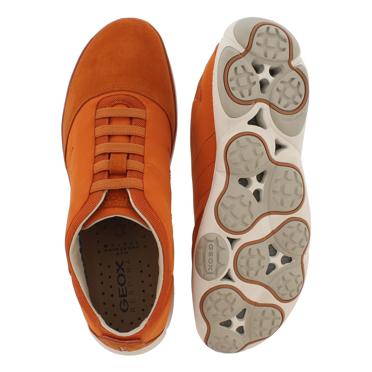 Mns Nebula orange lace up running shoe