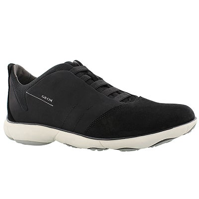 Geox Men's NEBULA black lace up running shoes