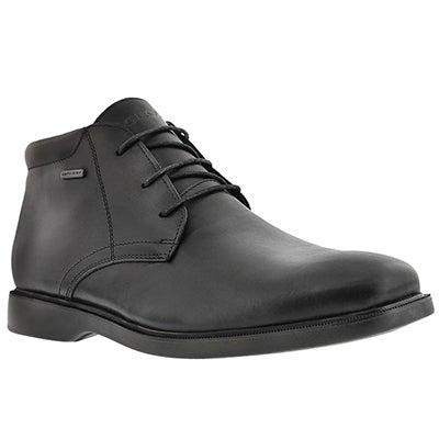 Geox Men's BRAYDEN 2FIT ABX black wtrprf chukka boots