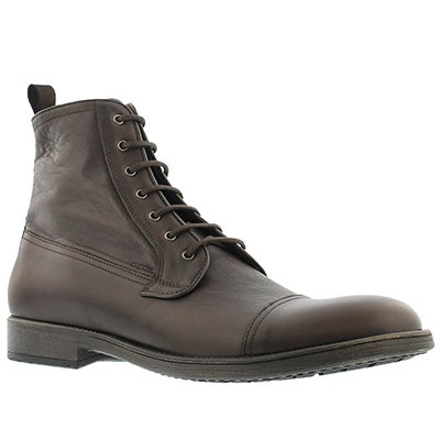 Geox Men's JAYLON dark brown lace up ankle boots