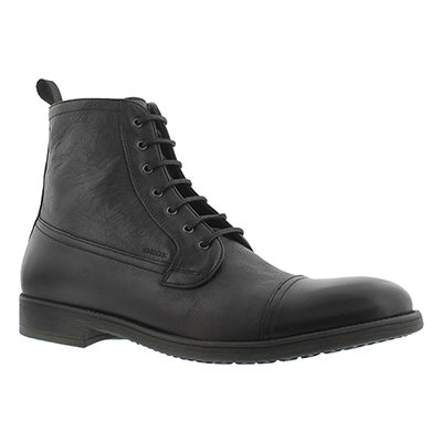 Geox Men's JAYLON black lace up ankle boots