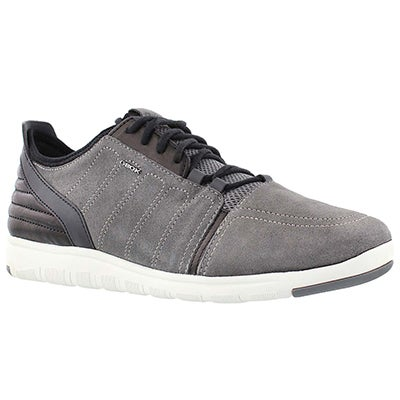 Geox Men's XUNDAY 2FIT grey/black lace up runners