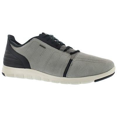 Geox Men's XUNDAY 2FIT ice/navy lace up sneakers
