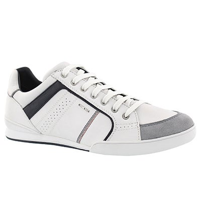Mns Kristof wht/gry lace up fashion snkr