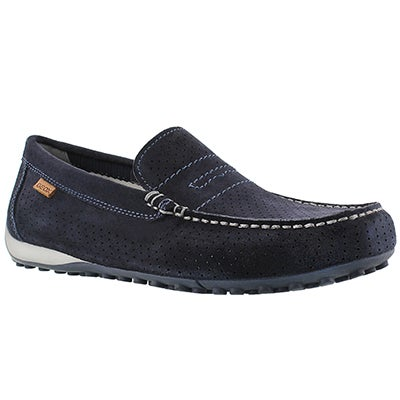 Geox Men's SNAKE MOC 2FIT navy loafers
