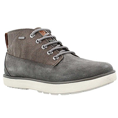 Geox Men's MATTIAS ABX grey lace up boots