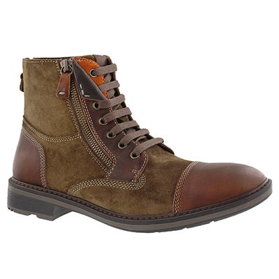 Geox Men's RICKMOVE brown lace up ankle boots