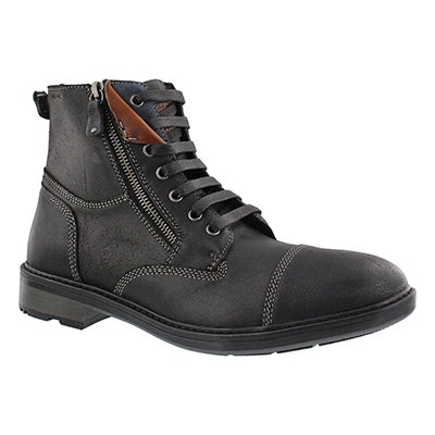Geox Men's RICKMOVE black lace up ankle boots