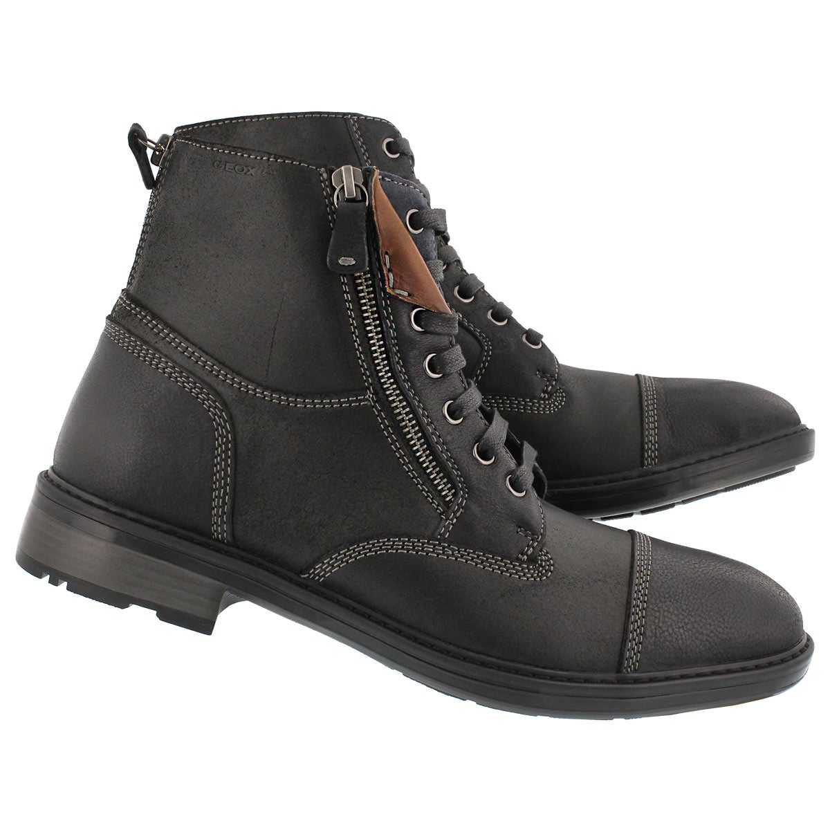 Mns Rickmove black lace up ankle boot