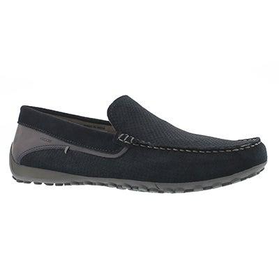 Mns Snake Moc navy loafer