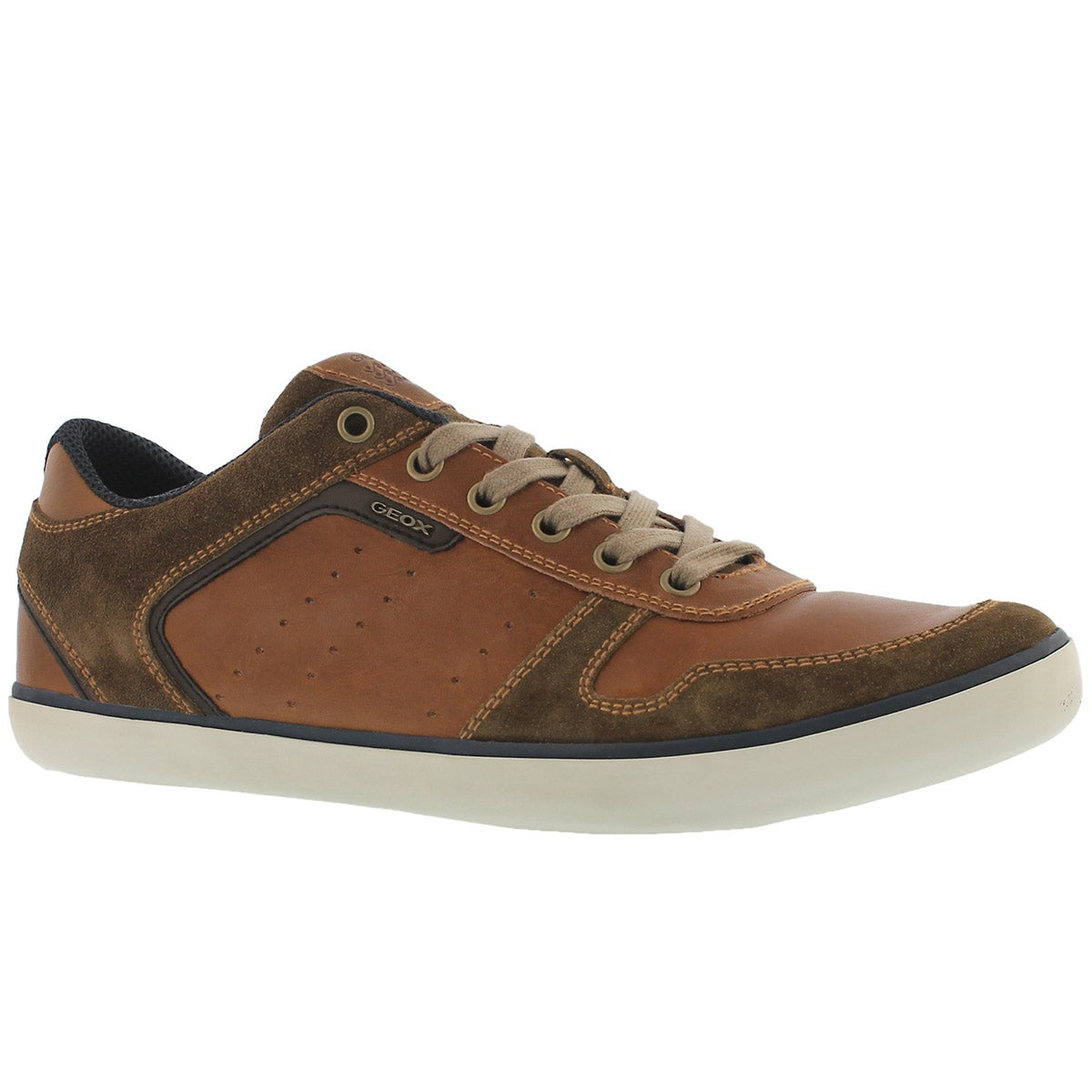 Men's BOX brown lace up fashion sneakers