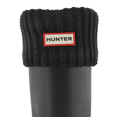 Hunter Women's HALF CARDIGAN black boot socks