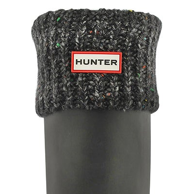 Hunter Women's GRANITE FLECK black boot socks