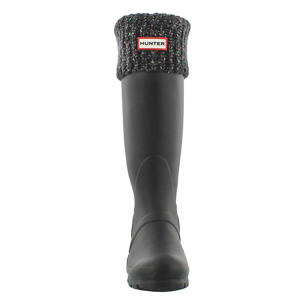 Lds Granite Fleck black boot sock