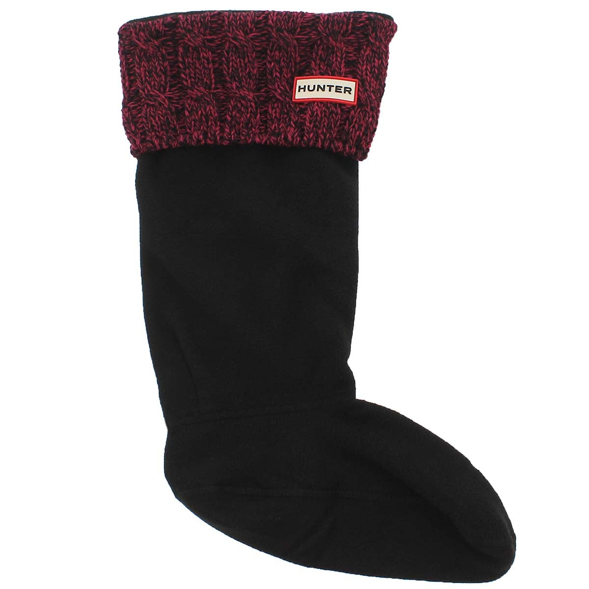 Lds 6 Stitch Cable pnk/blk boot sock