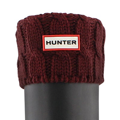 Hunter Women's 6 STITCH CABLE dulse boot socks