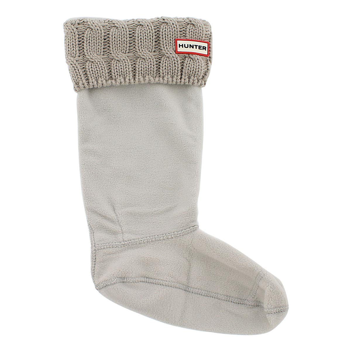 Lds 6 Stitch Cable greige boot sock