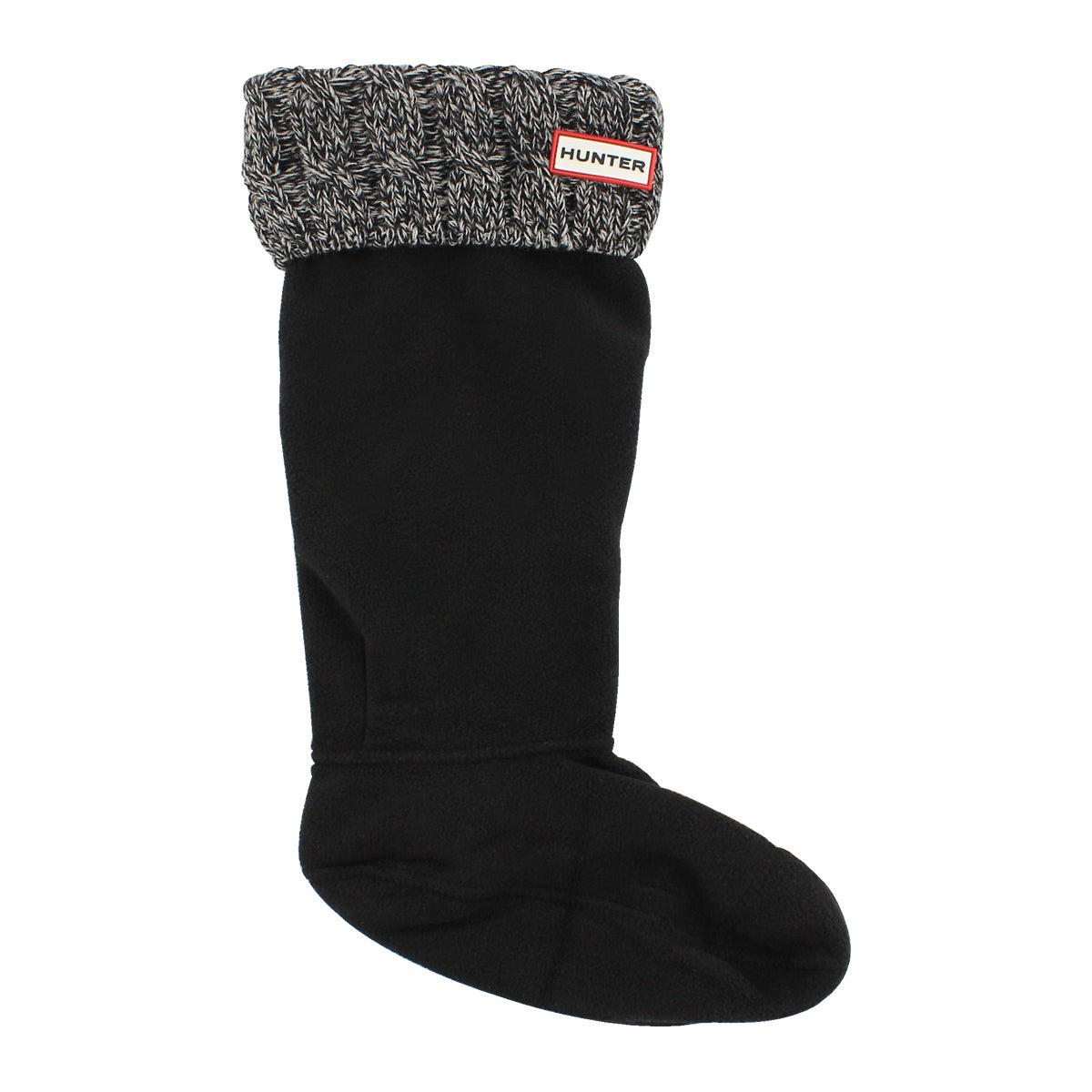 Lds 6 Stitch Cable blk/gry boot sock