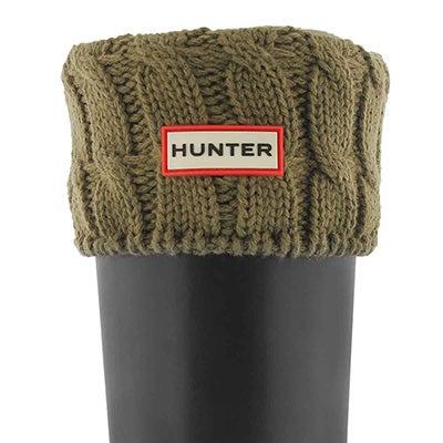 Lds 6 Stitch Cable khaki boot sock
