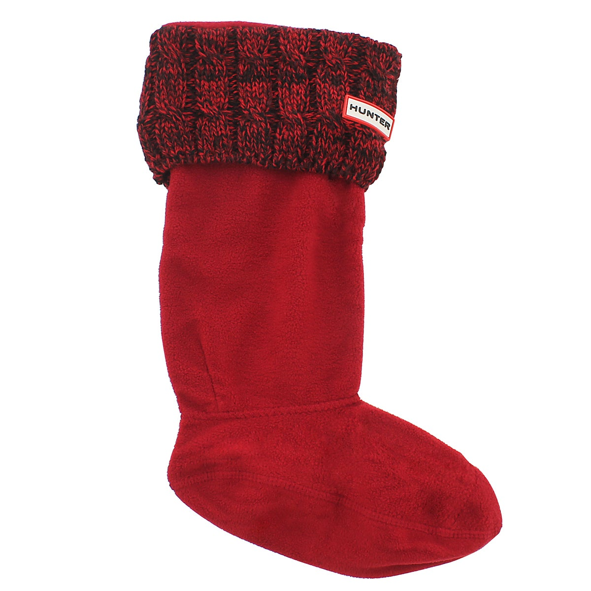 Lds 6 Stitch Cable red/dulse boot sock
