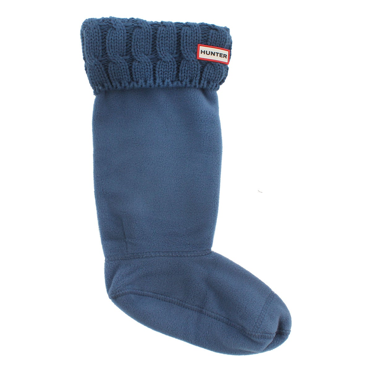 Lds 6 Stitch Cable tarp blue boot sock