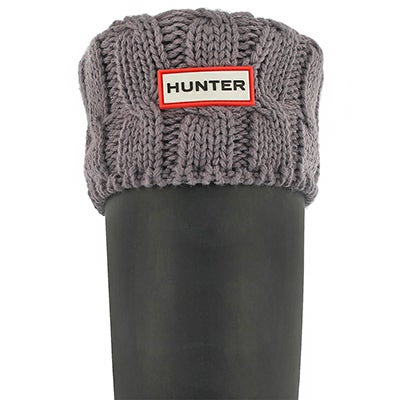 Hunter Women's 6 STITCH CABLE thundercld boot socks